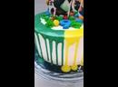 Тортик на пополам кунг-фу панда и миньоны🍰🥳🐼🐒🐯
