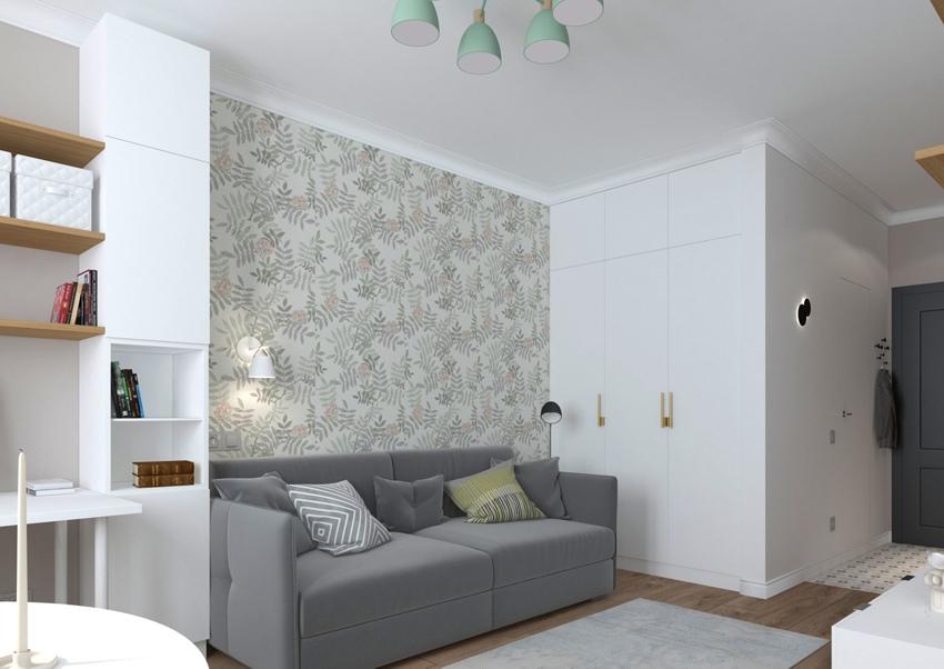Проект квартиры-студии 32 м.