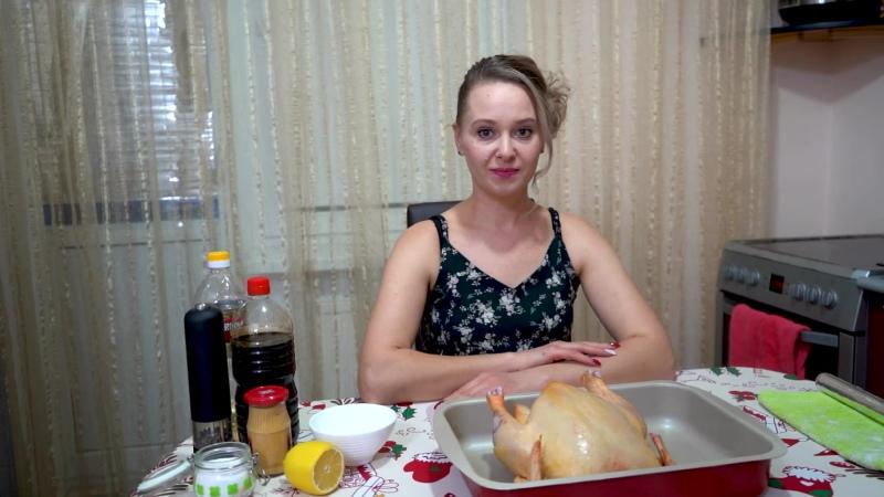 Курица целиком в духовке   Рецепт сочной курицы