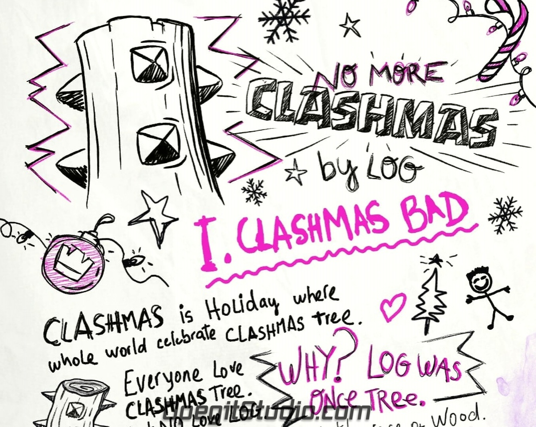 Коварный план Бревна на Clash-Рождество! #coc_news@opegitstudio