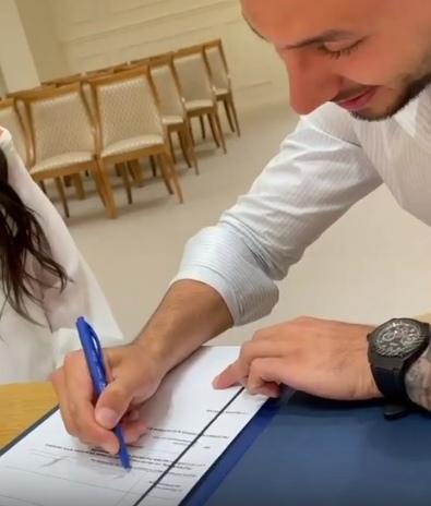 Ирина Пинчук и Арай поженились
