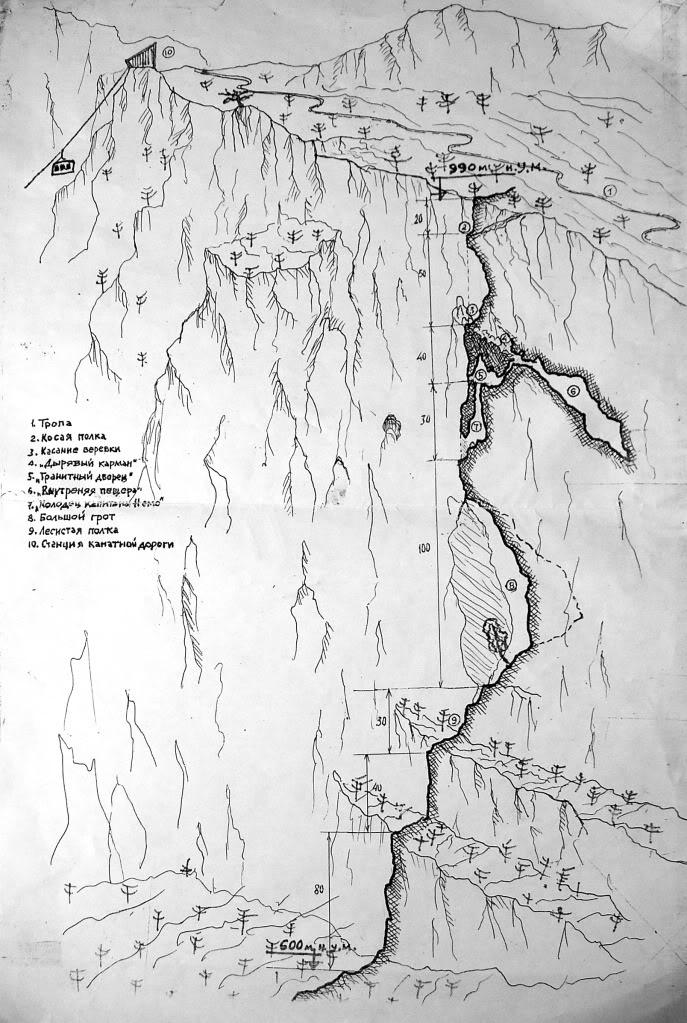 Спуск через Мисхорские гроты с плато Ай-Петри.