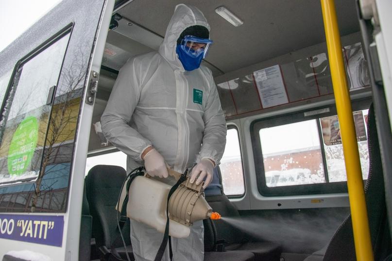 В Ухте проверили соблюдение дезинфекции в автобусах, изображение №3
