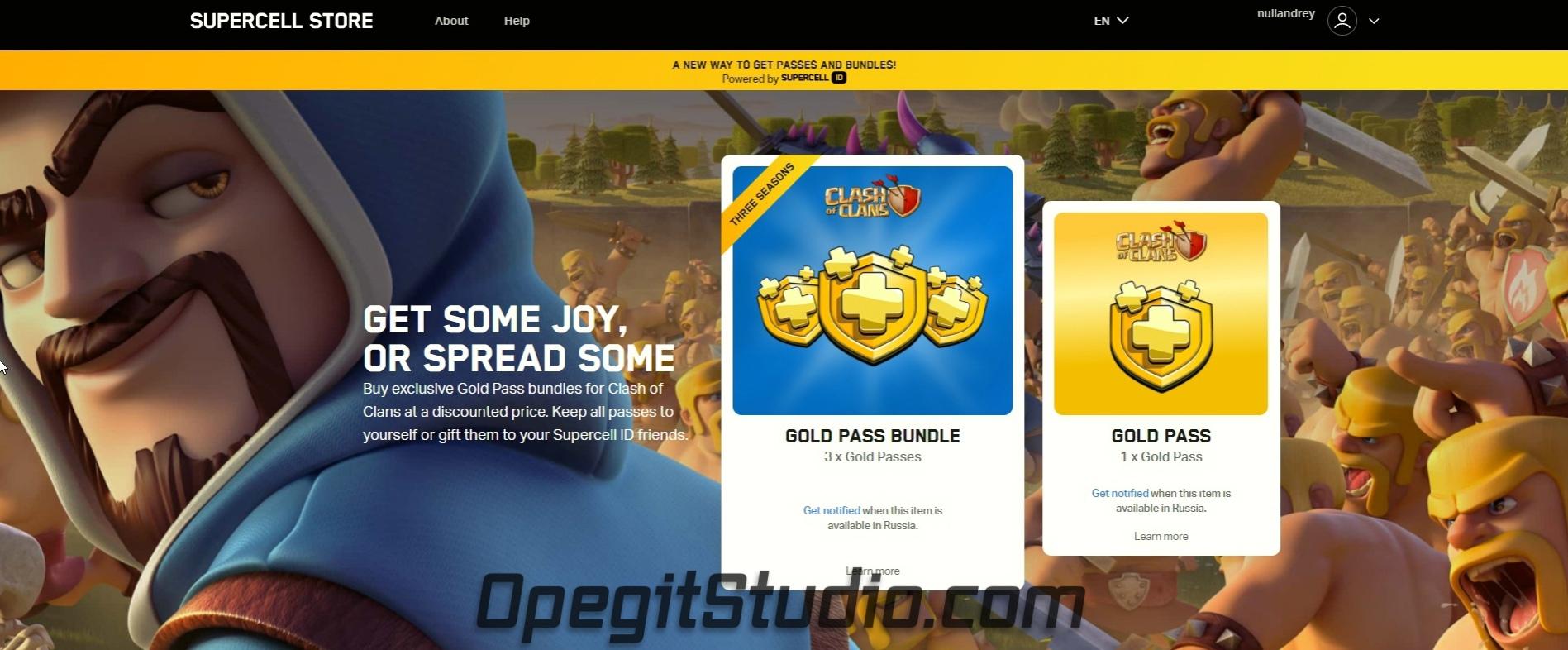Supercell открыли свой магазин для внутриигровых покупок. https://store.supercell.com/en