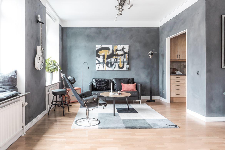 Интерьер скандинавской квартиры 45 кв.