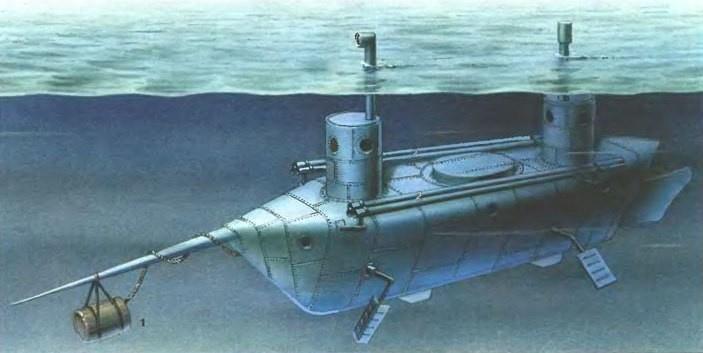 Подводная лодка конструкции К.А. Шильдера