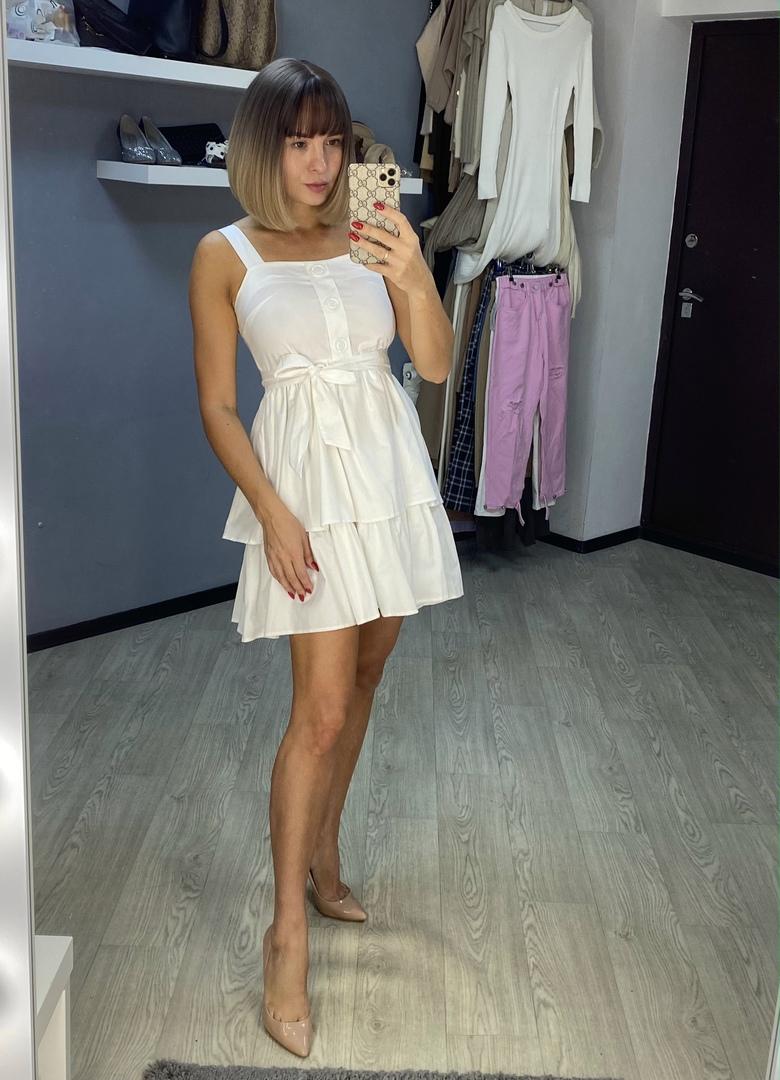 Белое платье от магазина syiwidii Official Store.