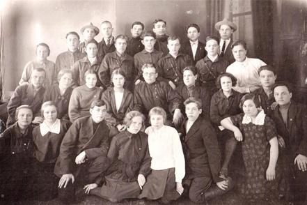 Трамовцы-комсомольцы. 1929 г. Фонды ЧИКМ.
