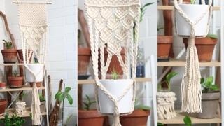 DIY Large Macrame Plant Hanger | Step by step macrame plant hanger tutorial #4