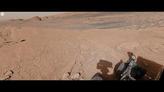 Curiosity Mars Rover's View Atop 'Mont Mercou' (360 View)