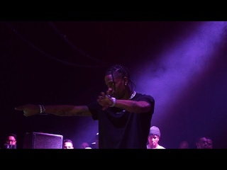 TRAVIS SCOTT Legendary MOSH PIT Signal Makes FANS GO INSANE @ James Harden Secret Concert!