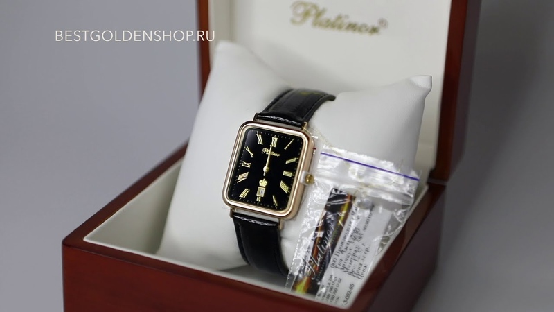 Видео обзор мужских золотых часов Атлант арт 54650 515 производителя Platinor