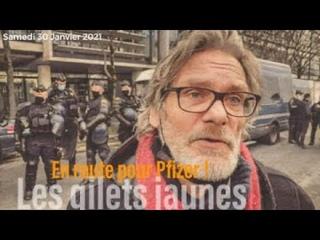 En direct: En route pour Pfizer. Les Gilets Jaunes #Paris #30Janvier2021