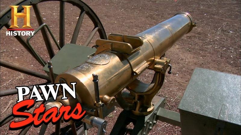 Pawn Stars RARE EXPENSIVE GATLING GUN PACKS A PUNCH Season 4 History