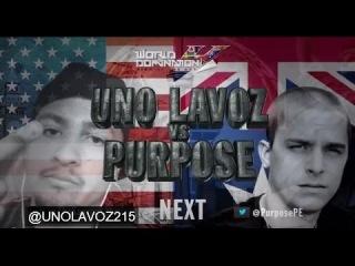 KOTD - Rap Battle - Uno Lavoz vs Purpose [Рифмы и Панчи]