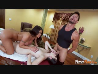 Filthyfamily - August Taylor Massages Her Step-Daughters Pussy /  August Taylor, Violet Rain