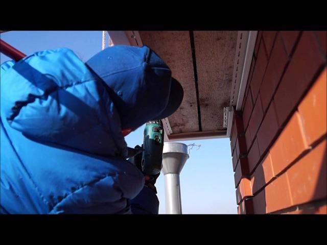 Подшивка софитом сайдингом карниза крыши Утепление кровли часть № 4 смотреть онлайн без регистрации