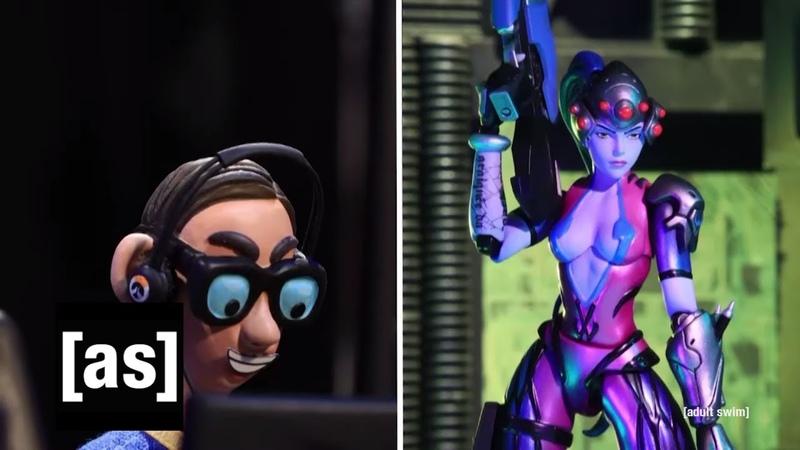 The Nerd Plays Overwatch | Robot Chicken | adult swim
