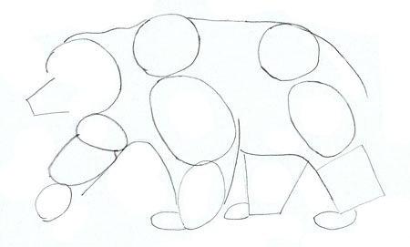 Рисуем медведя
