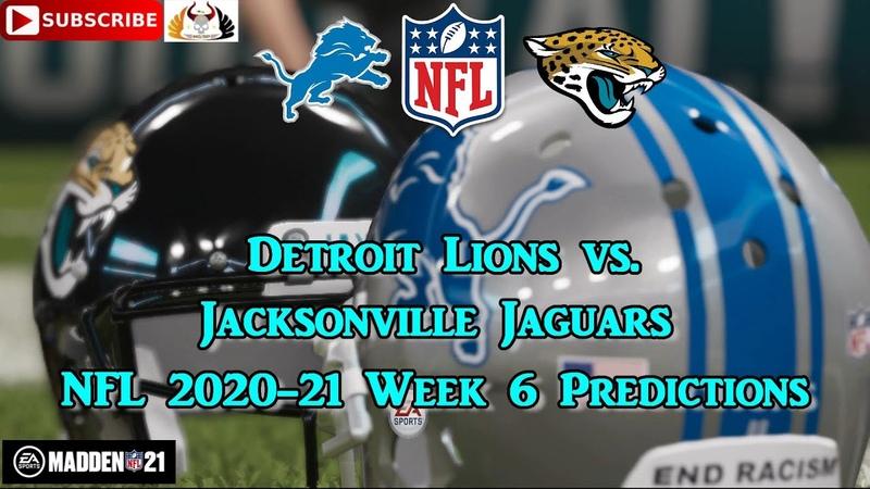 Detroit Lions vs. Jacksonville Jaguars NFL 2020 21 Week 6 Predictions Madden NFL 21