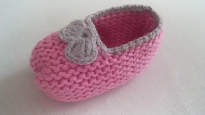 ÇOKKK KOLAY PATİK MODELİ _ bebek patiği yapılışı _ very easy baby shoes.mp4
