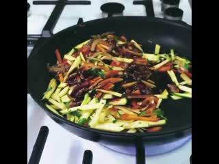 Рецепт лапши быстрого приготовления.