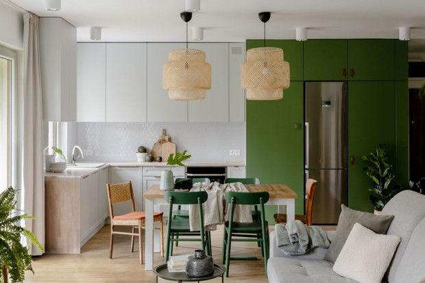 Зеленая квартира 98 м² в Варшаве от Габриэлы Бартчак