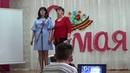 Песня Ах, эти тучи в голубом. На сцене Новоуспенского ДК Валентина Вострякова и Наталия Смирнова