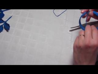 Создание браслета для цветочнои композиции из замши. Часть 2