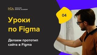 Урок по Figma. 4-часть. Делаем прототип. Moscow Digital Academy