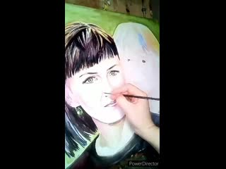 Доченька заказала портрет для мамы, я не удержалась и написала их вместе.