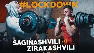 Levan Saginashvili and Irakli Zirakashvili Heavy Biceps training! Lockdown!