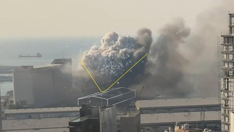 Реконструкция взрыва в Бейруте