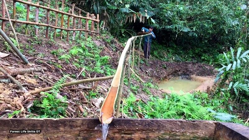 Completion of water reserve tank Primitive technology survival instinct ep 107
